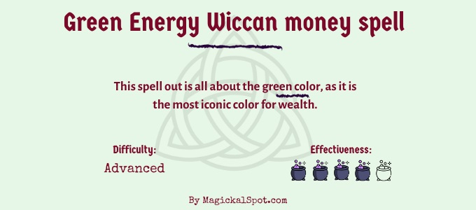 Green Energy Wiccan money spell