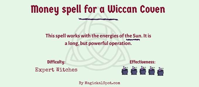 Money spell for a Wiccan Coven
