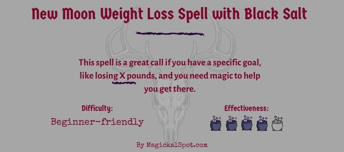 New Moon weight loss spell with black salt
