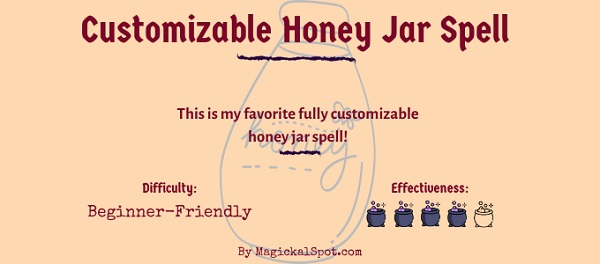 Customizable honey jar spell
