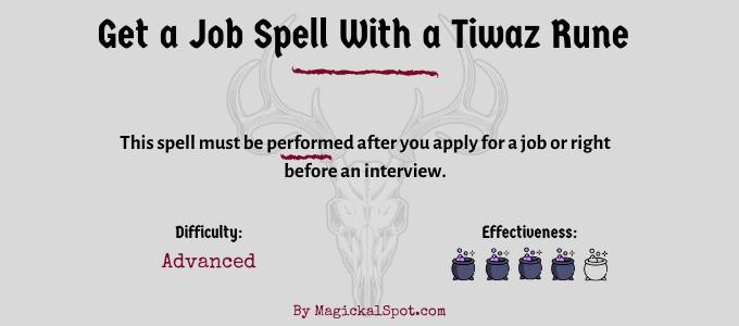 Get a Job Spell with a Tiwaz rune