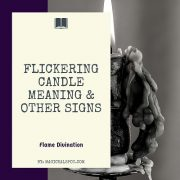 Flickering Candle Meaning & Other Signs featured