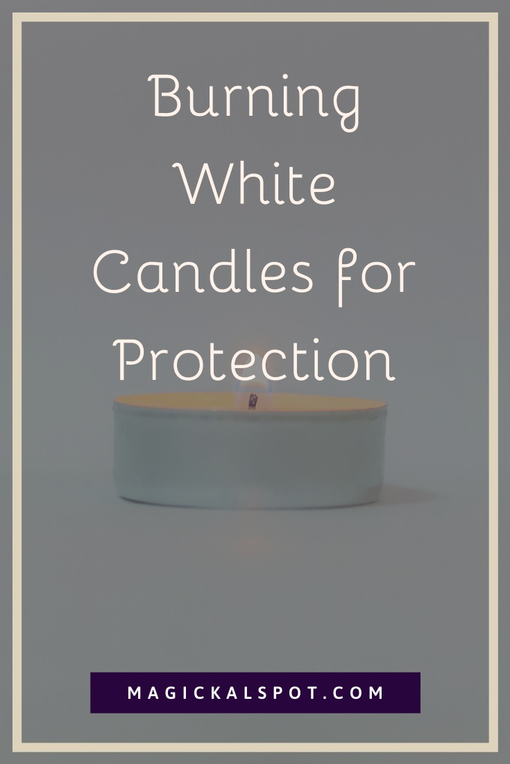 Burning White Candles for Protection by MagickalSpot