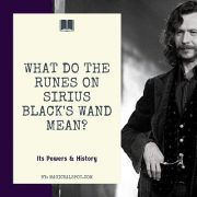 What do the Runes on Sirius Blacks Wand Mean featured