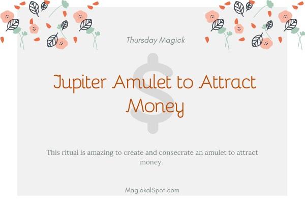 Jupiter amulet to attract money