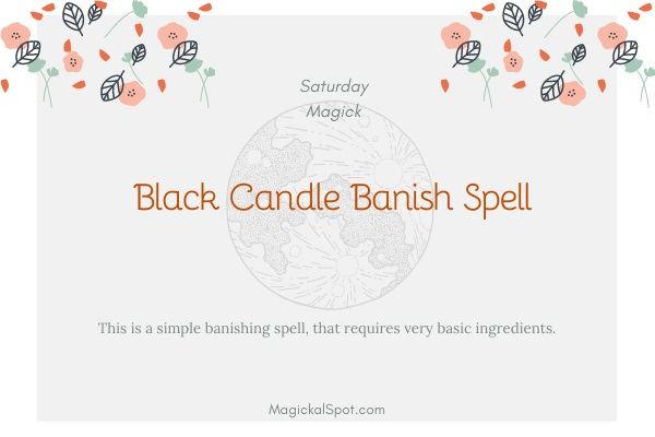 Black Candle Banish Spell