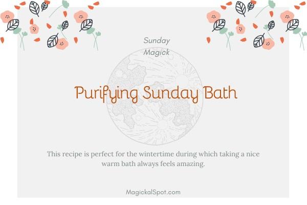 Purifying Sunday Bath