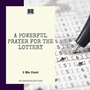 A Powerful Prayer for the Lottery featured