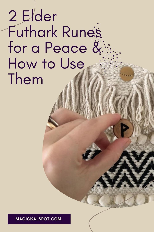 2 Elder Futhark Runes for a Peace by Magickal Spot