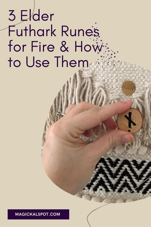 3 Elder Futhark Runes for Fire by Magickal Spot