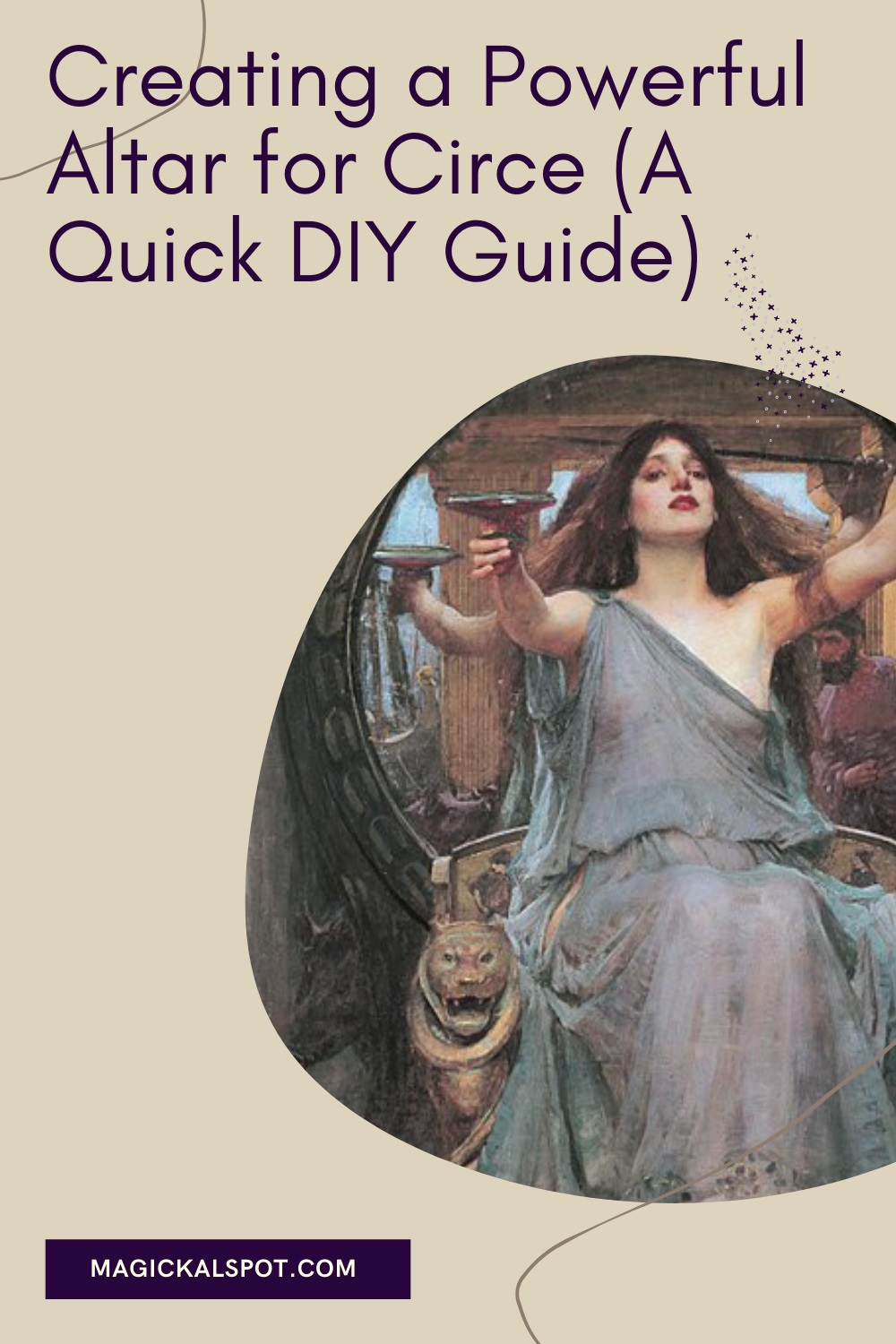 Creating a Powerful Altar for Circe by Magickal Spot