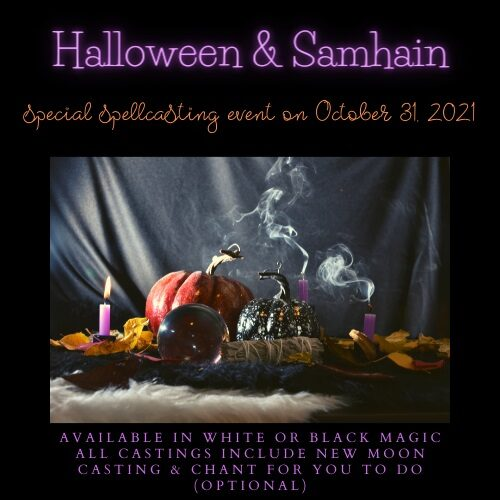 2021 Halloween and Samhain Spellcasting Event featured